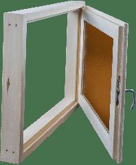 Окно из липы 500х600 двойной стеклопакет (бронза)