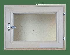Окно из липы 700х1000 двойной стеклопакет (прозрачный)
