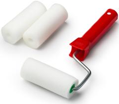 Валик ПОРОЛОН в наборе: 3 шубки+ручка, 100мм, d=40мм, MIRAX