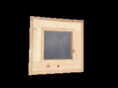 Окно из сосны 500х500 одностворчатое