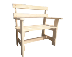 Скамейка из осины 500х450х900 с подлокотниками