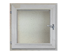 Окно из липы 400х400 двойной стеклопакет (прозрачный)