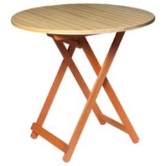 Стол складной, большой, круглый 800х800х750