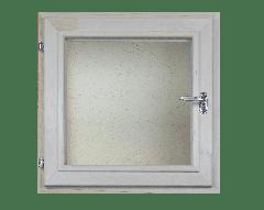 Окно из липы 300х300 двойной стеклопакет (прозрачный)