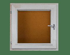 Окно из липы 400х400 двойной стеклопакет (бронза)